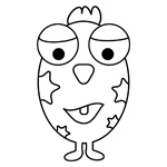Eggward the alien kids coloring page