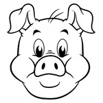 Stewie the pig colouring page thumbnail